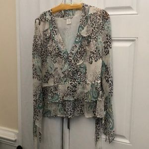 Ladies Blouse size Xl and silk pants size 14